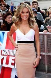 Amanda Holden wears a Victoria Beckham dress Amanda Holden wants fashion career like Victoria Beckham