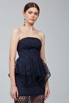 MIDNIGHT HOUR LACE BUSTIER navy