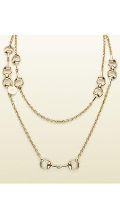 Gucci horsebit necklace