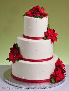 Winter Wedding Cakes, different flowers though