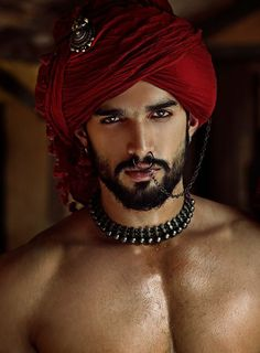 Guy's costume - as Indian man slave, to include the beard and oiling of his skin to make it shine. What an awesome costume that would make! Beautiful Women Quotes, Beautiful Men Faces, Gorgeous Men, Handsome Men Quotes, Handsome Arab Men, Scruffy Men, Indian Man, Cute Indian Guys, Male Face