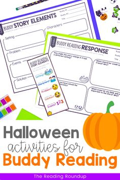 Is your Daily 5 Buddy Reading Center as effective as you'd like for it to be? These Halloween themed digital and printable reading buddies bookmarks are guaranteed to lead to more student engagement. Elementary students can practice making predictions with these bookmarks and graphic organizers. Story Elements reading response sheets are also available for additional accountability during literacy centers. A must-have for your reading workshop! Reading Centers, Reading Workshop, Reading Activities, Literacy Centers, Partner Reading, Reading Response, Student Reading, Story Elements Activities, Daily 5 Centers