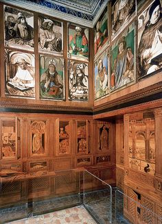 SANCTITY IN PERSPECTIVE: A tiny chamber in the Palace of Urbino holds one of the miraculous feats of the Italian Renaissance, as well as secret codes to a duke's inner life.