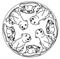 Robben-Eisbär-Mandala