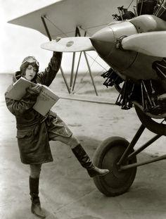 "Dorothy Sebastian (1929)  … ""How to Fly an Airplane"""