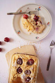 süßer Couscous-Quark-Auflauf mit Kirschen *gesund*