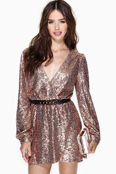 Rose gold sequin dress http://rstyle.me/~1e9V9