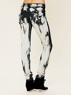 Black & white skinny jeans