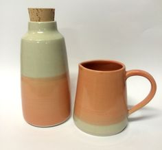 Bottle and jug set from my new rainbow range. Visit www.sshannah.com for more functional ceramic loveliness.