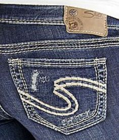 Womens Silver Jeans Low Rise Tuesday Surplus Thick Stitch Stretch Jean 25 30 NWD