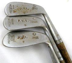 PROIRON vintage GOLF CLUBS Mashie Niblick Mid Iron 2 5 6 Hickory Shaft