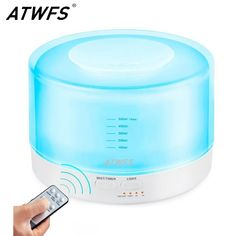 Remote Control Ultrasonic Essential Oil Diffuser Air Humidifier Aroma Diffuser Fogger 7 Color LED Light Aromatherapy Mist Maker #watches, #belts, #fashion, #style, #sport