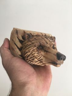 Kuksa Cup, Wood Carving For Beginners, Wood Working, Wood Art, Wood Projects, Bears, Cups, Rings For Men, Crafts