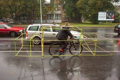 Striking grassroots bike campaign shows how much space one car occupies : TreeHugger