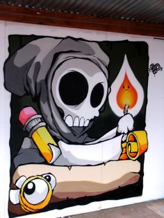 by CHEO (Bristol) street art Graffiti Pictures, Graffiti Artwork, Graffiti Drawing, Graffiti Wall, Murals Street Art, Street Art Graffiti, Best Street Art, Amazing Street Art, Art And Illustration