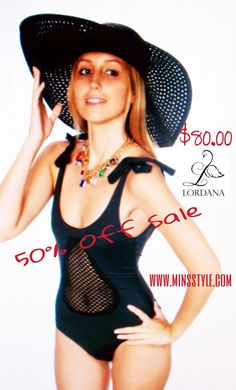 Sexy is leaving something to the imagination, Approved Designer Lordana Swimwear does just that with the Molina Suit. The cut out peak-a-boo makes imaginations run wild. Half off sale now in progress on the Lordana Swimwear Collection at www.minsstyle.com. #swimsuits #sale #lordanaswimwear #clickthelink #securesite #vacationdays #shopminsstyle $80.00 http://www.minsstyle.com/designers/lordana-swim.html
