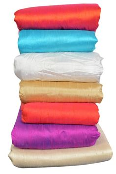 100% Raw SILK Garment Upholstery Fabric by Yard Hand woven India RS-1 #VRA