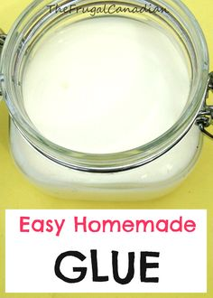 Easy DIY Homemade Glue Recipe I have been making this recipe for about 4 years Diy Slime No Glue, Diy Glue, How To Make Glue, How To Make Homemade, Fun Crafts, Crafts For Kids, Best Glue, Types Of Craft, Toddler Art