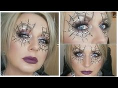 Hi my Sugar Puffs, today I am giving you the easiest , last minute Halloween spider web makeup tutorial. Spider Web Makeup, Easy Halloween, Halloween Spider, Fright Night, Black Eyeliner, Beauty Shop, Halloween Face Makeup, How To Make, Makeup Tutorials
