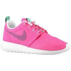 Nike Roshe Run - Women s - Running - Shoes - Pink Floral Raspberry Red White  White Green 058f1c6545