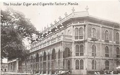 The Insular Cigar and Cigarette Factory Manila Philippines Postcard - philippines holiday Philippine Architecture, Philippine Holidays, Filipiniana, Manila Philippines, Historical Architecture, Old City, Filipino, Cigars, Old Photos