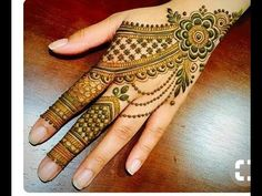Jewellery Style Mehndi Design - YouTube