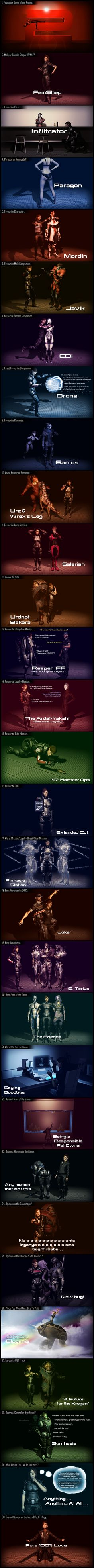 30 Day Mass Effect Challenge by Lordess-Alicia.deviantart.com on @deviantART