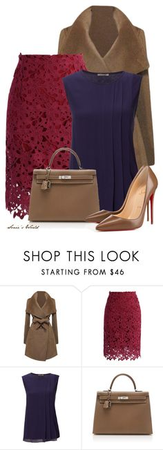 """""""Pencil & Pumps"""" by sonies-world ❤ liked on Polyvore featuring Chicwish, Jigsaw, Hermès and Christian Louboutin"""