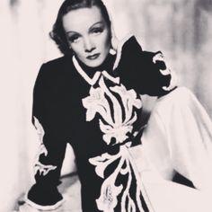 Greta Garbo wearing an Elsa Schiaparelli jacket