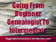 While I was creating a new account with a genealogy group the other day, I was asked the simple question regarding if I am a beginner, intermediate, advanced, or professional genealogist. Sounds l… Genealogy Websites, Genealogy Forms, Genealogy Search, Family Genealogy, Free Genealogy, Genealogy Humor, Family Roots, All Family, Family Trees