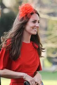 Red in style. #katemiddleton #red