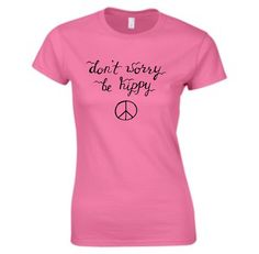 A quality short sleeve T shirt. We can also do this in a ladies fit or childrens sizes, just ask! Size Guides Men's T shirts S M L XL Women's T Shirts S M XL XXL Children's T Shirts Age (yrs) Chest Hippie T Shirts, Don't Worry, Hippy, No Worries, Etsy Shop, Tees, Clothing, Shopping, Women