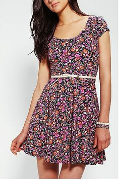 1f443cbfaf Shop Kimchi Blue Knit Floral Skater Dress at Urban Outfitters today.