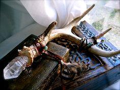 Magickal Ritual Sacred Tools: Antler #Wand.