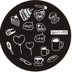food, cake, hearts, drinks