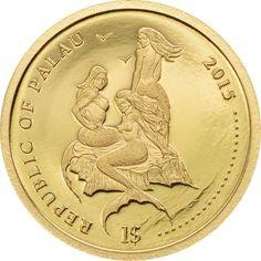 Bullion Coins, Gold Bullion, Custom Coins, Fantasy Art Women, Gold And Silver Coins, White Tail, World Coins, Mermaid Art, Pure Products
