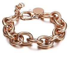 CIUNOFOR CZ Bracelet for Women Girls Wide Cuban Curb Link Bracelet Oval Bracelet Silver Rose Gold Plated Adjustable Stainless Steel Chain with Round Disc Charm Locket Bracelet, Bracelet Sizes, Link Bracelets, Silver Bracelets, Charm Bracelets, Stainless Steel Chain, Adjustable Bracelet, Rose Gold Plates, Jewelry Gifts