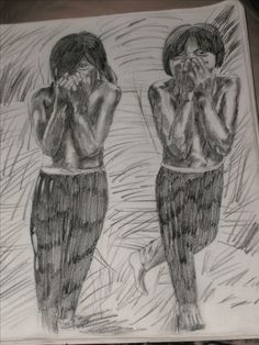 """Giggling Indian Girls"" Pencil, Early 2000's"