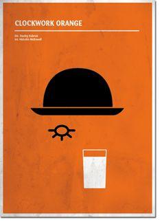 Minimal cinema poster. Clockwork orange  www.quimmirabet.com  #graphicdesign  #postercinema