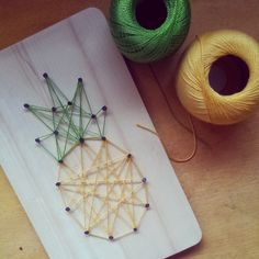 tea and craft: Pineapple string art