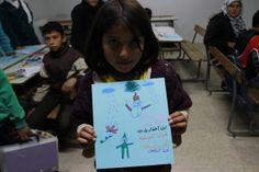 """La guerra de Siria según los niños. Nuha, 10 años Nuha escribe a los líderes mundiales: """"La paz se ha convertido en un sueño para los niños sirios, pero los niños son capaces de convertir los sueños en realidad. Con guerra o con paz, somos el futuro""""."""
