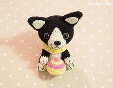 Boston terrier puppy - Free crochet pattern by Amigurumi Today