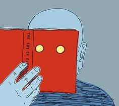Reading the future / Leyendo el futuro (ilustración de Guido Scarabottolo)