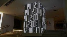 Hikari No Tokei Installation | Digital clock installation at Seibu Ikebukuro flagship store, creative direction by Masaaki Hiromura (廣村正彰), music by Yukihiro Takahashi (高橋幸宏) and art direction / design / programming by Yugo Nakamura (中村勇吾). Detail: http://tha.jp/1367