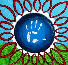 """Red Man"" Mandala art by Stephanie Smith. Like Stephanie Smith's Mandala Art on Facebook or visit biffybeans.com"