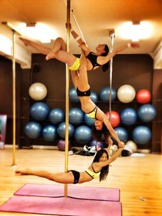 Pole Picture of the Day: Candace L. Cui, Diana Pietroianu & Veronica Solimano of Tantra Fitness...