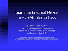 Learn the Brachial Plexus in Five Minutes or Less- I wish I had found this website a few years ago!