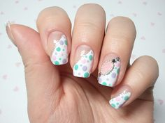 My sweet nail art, click through for tutorial (in my korean blog) ...