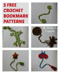 crochet bookmarks-free patterns I would use these for appilque Crochet Bookmark Pattern, Crochet Bookmarks, Crochet Cross, Crochet Patterns, Crochet Ladybug, Crochet Turtle, Crochet For Kids, Free Crochet, Knit Crochet