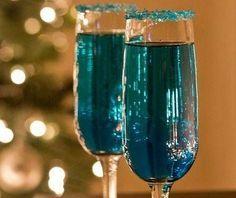 Blue Sparkling Star Cocktails